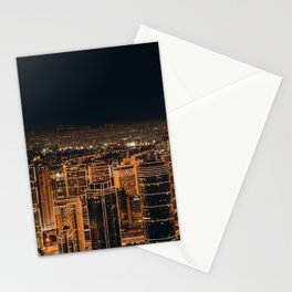 Somewhere in China – City by night Stationery Cards