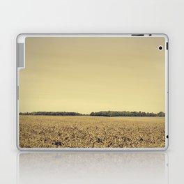 Lonely Field in Brown Laptop & iPad Skin