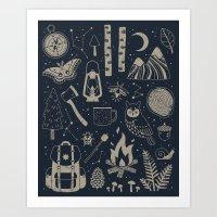 Into the Woods: Stargazing Art Print
