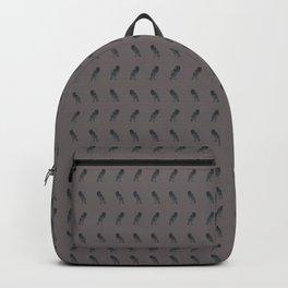 Purple Raven Print Backpack