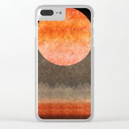 """Sabana night light moon & stars"" Clear iPhone Case"