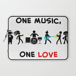 One Music, One Love Laptop Sleeve