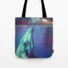 The Whale and the Wolf Tote Bag