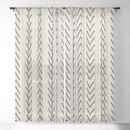 Mudcloth Sheer Curtain
