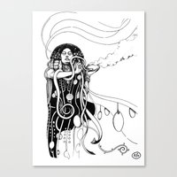 klimt Canvas Prints featuring Klimt reloaded by Riccardo Fortuna