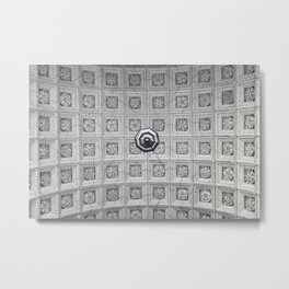 The network of flower ornaments on the ceiling of the hall of St. Isaac's Cathedral. Saint-Petersbur Metal Print