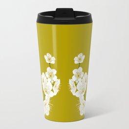 Peacocks and Cherry Blossoms Travel Mug