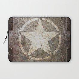 Army Star on Distressed Riveted Metal Door Laptop Sleeve