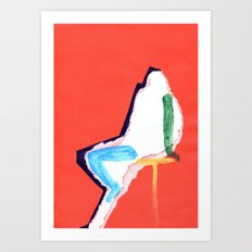 sitting figure Art Print