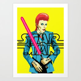 There's a Starman Art Print