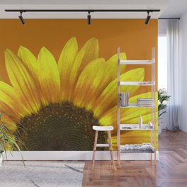 Big yellow Sunflower Blossom illustration Wall Mural