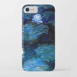 monet water lilies 1899 blue Teal iPhone Case