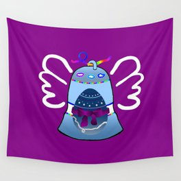 Bell on Purple Wall Tapestry