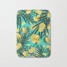 Summer Lemon Twist Jungle #1 #tropical #decor #art #society6 Bath Mat