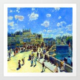 Renoir Pont Neuf Paris Art Print