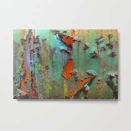 Flaking Paint on Rust Metal Print