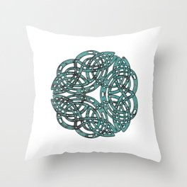 Abstract Celtic Design Throw Pillow