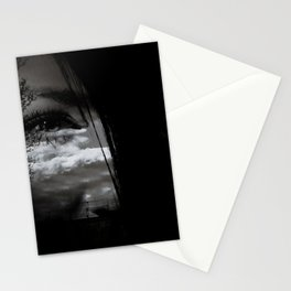 eye double exposure Stationery Cards