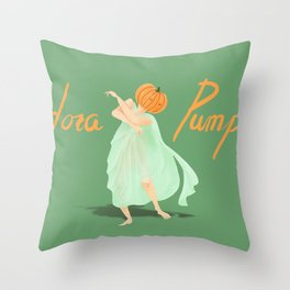 Isadora Pumpkin Throw Pillow