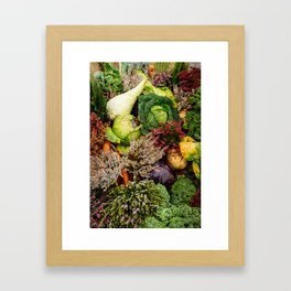 Vegetable pattern Framed Art Print