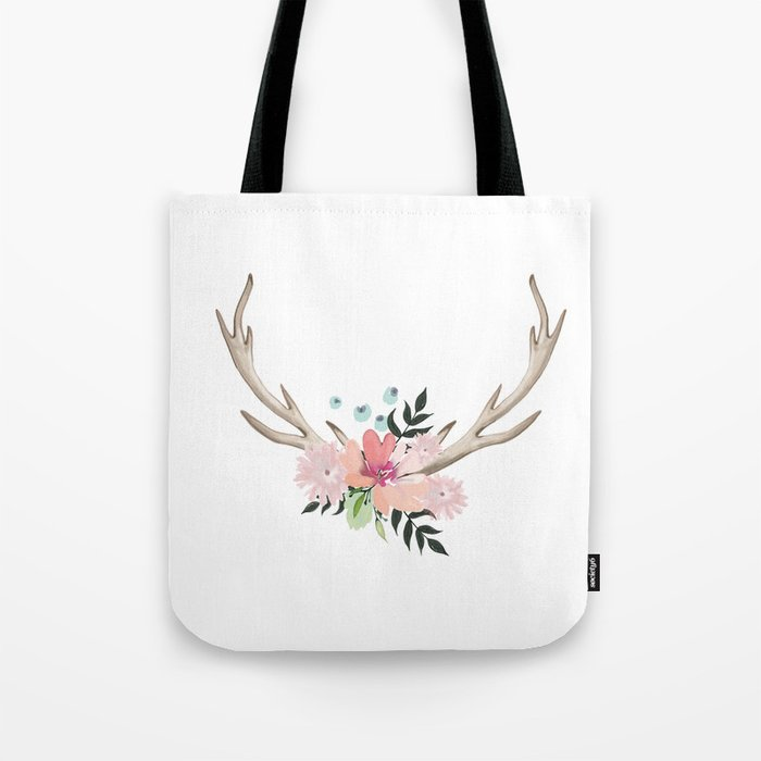 watercolor horns Tote Bag