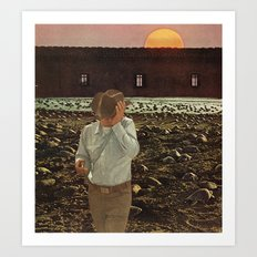 a shadow that passes across the sun Art Print
