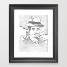 smoke of 40s Framed Art Print