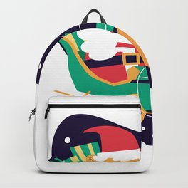 Santa Claus with gourds Backpack