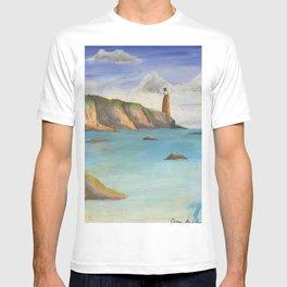 ocean cliff T-shirt