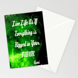 Everything Is Rigged - Rumi Stationery Cards