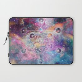 Watercolor and nebula sacred geometry  Laptop Sleeve