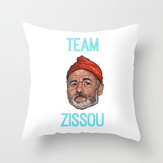 Bill Murray / Team Zissou Throw Pillow
