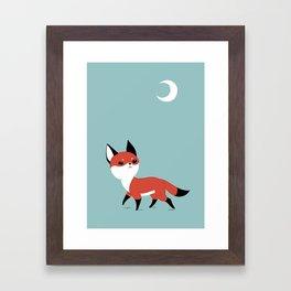 Moon Fox Framed Art Print