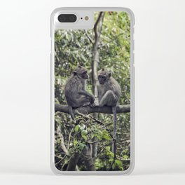 Monkey Love Clear iPhone Case