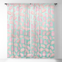 Squishy Tardigrades Sheer Curtain