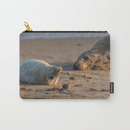 Grey Seal mum and pup Carry-All Pouch