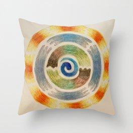 Seasons Mandala Throw Pillow
