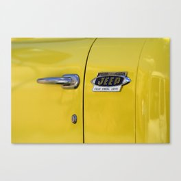 Yellow Jeep  Canvas Print