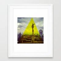 milan Framed Art Prints featuring Milan by natsnats