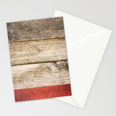 Wood, Wood, Red Stationery Cards