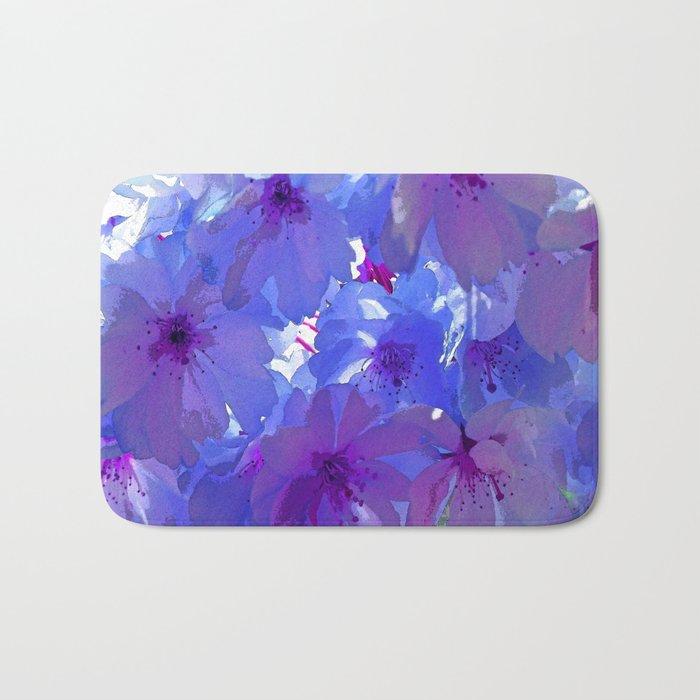 Blue Cherry Blossoms Bath Mat