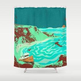 PHANTOM SHORE Shower Curtain