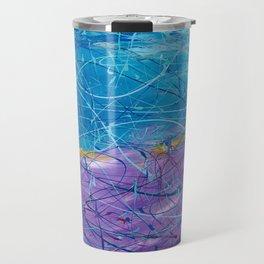 Purple/Blue Abstract Travel Mug