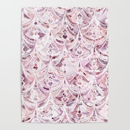 Berry Frosting Art Deco Pattern  Poster