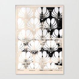 Newspaper Floral Cut Out Canvas Print