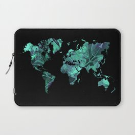 world map 77 blue Laptop Sleeve