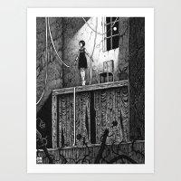 theatre Art Prints featuring Puppet Theatre by Michael Brack