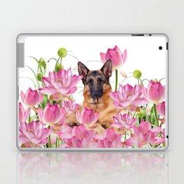 German Sheep Dog Lotos Field Laptop & iPad Skin