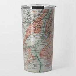 Vintage Map New York Travel Mug
