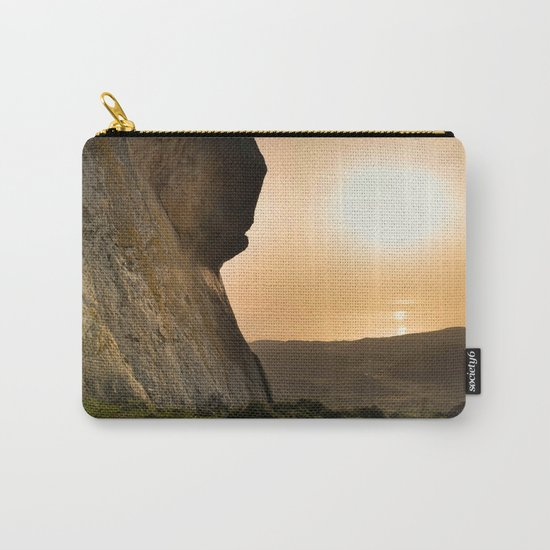 ISLAND STORIES XVIII Mountain Sunset view Carry-All Pouch